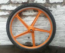 vintage jante roue de velo metal look orange grimeca 22 x 559 vtt