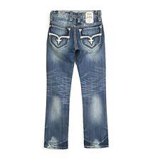 Rock Revival 29 ROGAN Straight Triple Stitched Jeans 29x34 Mens