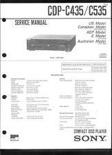 Sony Original Service Manual für  CDP- C 435/535