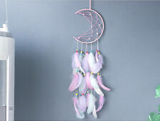 Crescent Moon Boho Baby Dream Catcher Bedroom Decor for Kids Mobile Wall hanging