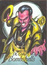 2017 Cryptozoic DC Comics Bombshells Melike Acar Sketch card of Sinestro RARE!