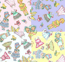 "DAISY KINGDOM PAPER DOLLS 5"" Quilt Block Fabric Squares"