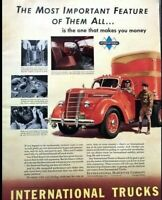 1939 IHC International Truck Vintage Advertisement Print Art Car Ad Poster LG81