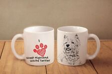 "West Highland White Terrier - ceramic cup, mug ""I love"", Ca"