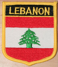 LEBANON Shield Country Flag Embroidered PATCH Badge P1