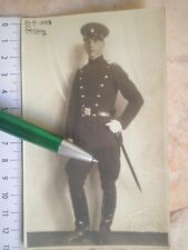 1928 KINGDOM YUGOSLAVIA ARMY PHOTO PICTURE DAGGER small sword UNIFORM BELT BUCKL
