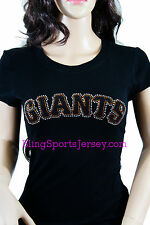 San Francisco SF Giants Jersey Rhinestone Bling T-shirt