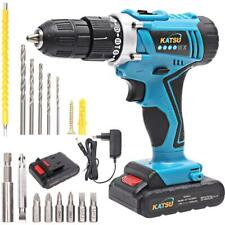 KATSU Cordless impact Drill 18V With Shaft and Accessories and 2 Battery 1.5Ah