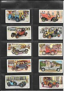 KELLOGG - VETERAN MOTOR CARS - 1962 - 10 CARDS FROM SET OF 16