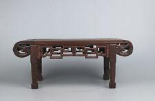 Pedestal stand display shelf brown Ji-chi wood rosewood Miniature elbow table