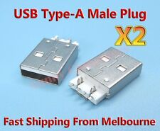 2x USB Type-A Male Plug Connector Part For PC Laptop Macbook Notebook Repair B