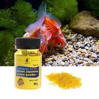 Aquarium Fish Tank 50g Instant Yellow Powder For Ornamental Fish Treat Bacterial