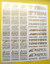 RC drift gold autocollants stickers HPI Losi Drift-R Kyosho