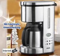Design Kaffee-Maschine Kaffee-Automat mit 24-Std Timer Thermoskanne Edelstahl +