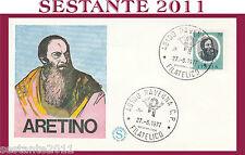 ITALIA FDC FILAGRANO PIETRO  ARETINO 1977 ANNULLO RAVENNA H239
