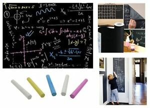 Self-Adhesive Blackboard/Chalkboard – Large Size (2000mmx450mm) + 5 FREE Chalks