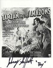 JOHNNY SHEFFIELD Signed 10x8 Photo TARZAN AND THE AMAZONS  COA