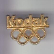 RARE PINS PIN'S .. OLYMPIQUE OLYMPIC ALBERTVILLE 1992 KODAK PHOTO LOGO OR 3D ~17