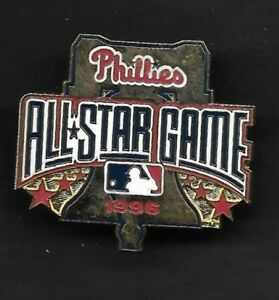 1996 All Star Game  PHILADELPHIA PHILLIES  HAT PIN BACK BUTTON  Gold Bell
