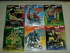 2014 Hot Wheels Pop Culture U Case Complete Set of six 1:64 Marvel Comics Series