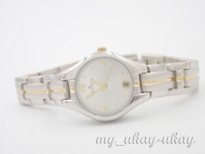 ANNE KLEIN 10/4745 Silver Dial Two Tone Bracelet Ladies Dress Watch
