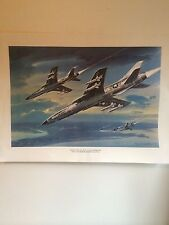 """United States Air Force F-105 Thunderchief 11"""" X 14 1/2"""" Color Print"""