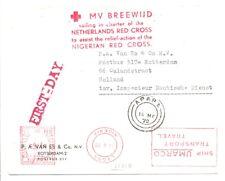 NIGERIA 1970 RED CROSS CV = SHIP -BREEWIJD = RELIEF-ACTION - F/VF @1