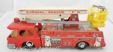 Vintage Tin Japan Battery Operated Fire Department Snorkel Rescue Truck
