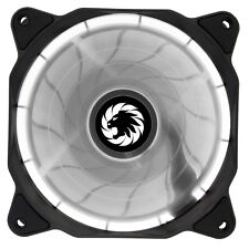 Game Max Eclipse White LED Ring 120mm Fan PC 12cm Case Fan High Performance