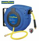 NEW GOODYEAR Enclosed Retractable Air Compressor/Water Hose Reel, 3/8