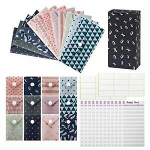 Cash Note Coin Envelopes 15 Pack Laminated Plastic Money Envelopes Budget Sheets