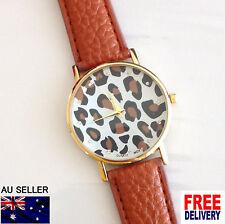 Luxury Elegant Simple Gold Women Leather Analog Quartz Wristwatch 2016 Hot Gift