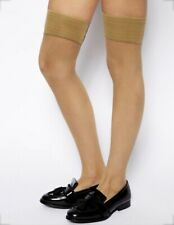 American Apparel Fishnet Hold Up Stockings ('Nude Lace', M/L)