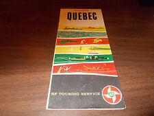 1962 BP Quebec Vintage Road Map