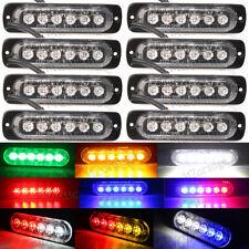 8X 4/6LED Car Truck Flash Emergency Warn Strobe Light Lamp 12V-36 Red Blue Amber
