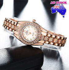 Golden Diamond Women's Automatic Watch with Metal Strap