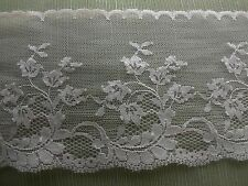 PINK/PEARL VINTAGE 4 INCH WIDE DELICATE LACE MADE IN FRANCE 5 YARDS
