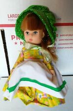 """Unmarked Vintage Small Doll Vinyl 7"""""""