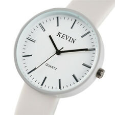 KEVIN Trendy Ladies Candy Color Quartz Wrist Watch Sport Silicone Rubber Strap