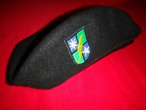 US Army 75th Infantry Regiment RANGER Black Wool Beret, With Original Label