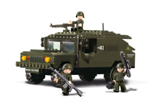 Military Land Rover Jeep Truck w/ Army Figures Compatible Building Bricks 191pcs