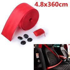 4.8x360cm Sicherheitsgurt Autogurt Set Rot einziehbar 3-Punkt-Gurt KFZ LKW PKW