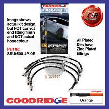 Subaru Impreza Turbo All UnMod 01-07 Goodridge Zinc Orange Hoses SSU0500-4P-OR