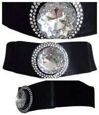 Señoras Modelador De Cintura Correa para Mujer Moda Elástico Negro Joya Talla 10 - 18