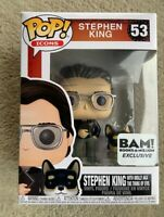 Stephen King with Molly BAM Funko Pop Vinyl New in Mint Box + Protector
