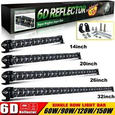 Single Row 6D 8-32'' Led Work Light Bar Combo Beam for Offroad  4x4 4WD ATV UTE
