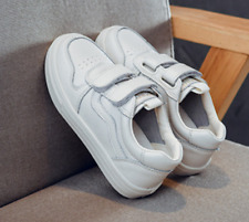 Leather children's shoes white shoes sneakers student casual shoes