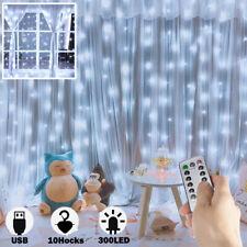 LED Lichtervorhang Lichterkette Lichternetz Fenster Licht Innen Weihnachten Deko