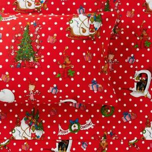 Pottery Barn Grinch Festive Organic Flannel Sheet Set Twin/Twin XL NEW