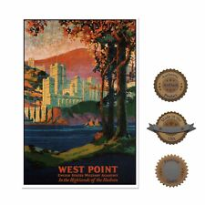 """13""""×19"""" Historic Decorative Art Poster: WEST POINT Military School Academy USA"""